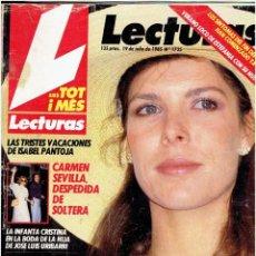 Revistas: REVISTA LECTURAS Nº 1735 JULIO DE 1985. Lote 140278630