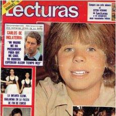 Revistas: REVISTA LECTURAS Nº 1526 JULIO DE 1981. Lote 140281818