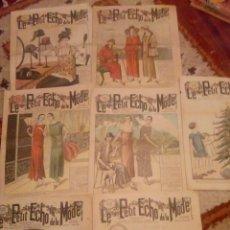 Revistas: LOTE 7 REVISTASLE PETITE ECHO DE LA MODE 1924-25. Lote 145107870