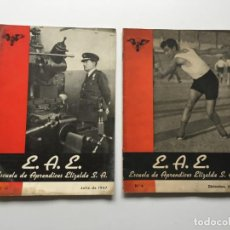 Revistas: ESCUELA DE APRENDICES ELIZALDE S.A., 2 REVISTAS JULIO 1947 Y DICIEMBRE 1942. Lote 147754594