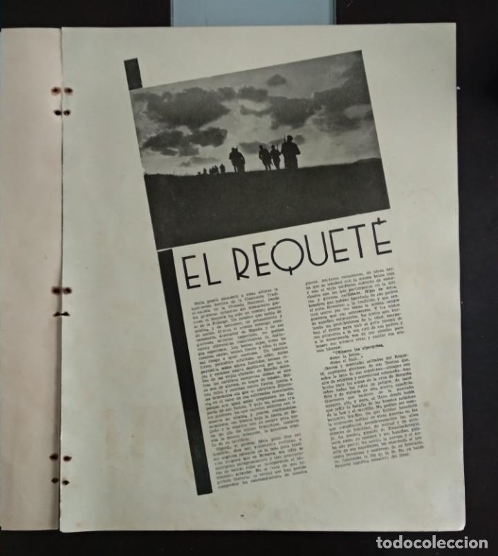 Revistas: Reportaje EL REQUETÉ portada litografía C.S. DE TEJADA - Foto 2 - 149676518