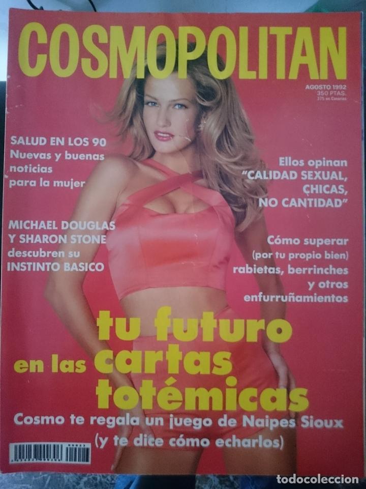 COSMOPOLITAN - AGOSTO 1992 -CON SHARON STONE Y MICHAEL DOUGLAS DESCUBREN SU INSTINTO BASICO (Coleccionismo para Adultos - Revistas)