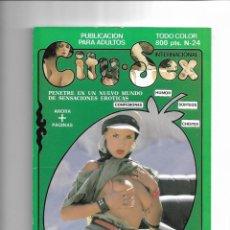 Revistas: CITY SEX, Nº 24. REVISTA QUE CONTIENE LA MEJORES EROTOGRAFIA.. Lote 150897862