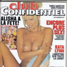 Revistas: REVISTA CLUB CONFIDENCIAL Nº 65. ENCORE PLUS SEX. KATE LYNN. IDIOMA FRANCES.. Lote 154647902