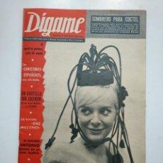 Revistas: REVISTA DIGAME - AÑO XXIV Nº 1190, 10 DICIEMBRE DE 1963. KATIA LORITZ. CAR135. Lote 161137774