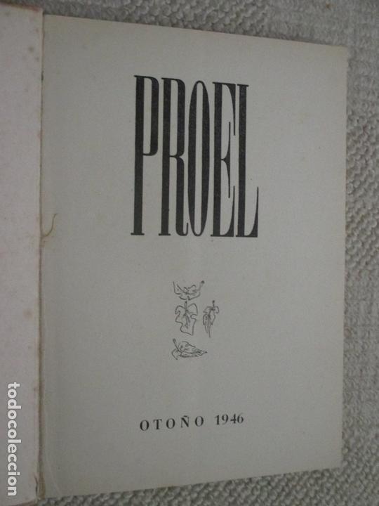 Revistas: Revista Proel, Otoño 1947, poesía, Santander, Cantabria, Aleixandre, Gerardo Diego - Foto 2 - 169401720