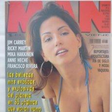 Revistas: REVISTA MAN Nº 131 (SEPTIEMBRE 1998) ESPECIAL CARIBEÑAS, RICKY MARTIN, JIM CARREY, ANNE HECHE. Lote 171762472