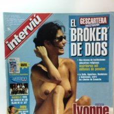 Revistas: INTERVIU IVONNE REYES, TOP LESS EN EL CARIBE.. Lote 175946065