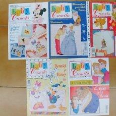 Revistas: BABY CAMILA BORDADOS,TRANSFERIBLES Y SIMPATIA,NUMEROS,4,6,7,9 Y NUMERO ESPECIAL. Lote 195231263