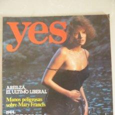 Revistas: YES 1 (1976) MANOS PELIGROSAS SOBRE MARI FRANCIS-ASÍ FUE LA INVASIÓN DEL VALLE DE ARÁN (OCTUBRE1944). Lote 181039560