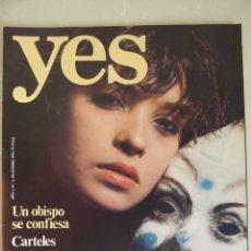 Revistas: YES 2 (1976) PATRICIA ADRIANI-NURIA ESPERT-CRISTA LEEM-CARTELES DE LA GUERRA CIVIL. Lote 181039670