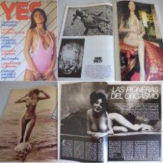 Revistas: YES 2 -2ª ÉPOCA (1977) SARA-PIONERAS ORGASMO-JUAN PEDRO DEL ROSARIO-LAURA ANTONELLI-DAVID BAILEY. Lote 181069796
