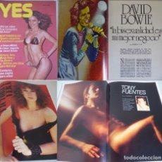Revistas: YES 6 -2ª ÉPOCA (1977) MIREIA ROSS Y PAU BIZARRO-VICTORIA VERA-DAVID BOWIE-BETTINA-TONY FUENTES. Lote 181070413