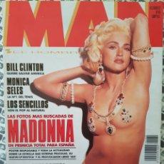 Revistas: REVISTA MAN Nº 60 (OCT. 1992) MADONNA, LOS SENCILLOS, MILLA JOVOVICH, NICOLE KIDMAN, ANTHONY HOPKINS. Lote 181608236