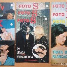 Revistas: FOTONOVELA SOFT PORN BIZARRE KITSCH LOTE FOTO S FOTO X FOTO K FOTO S 1978. Lote 182259198