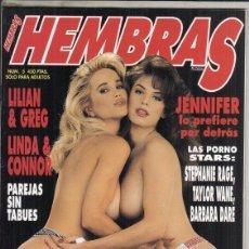 Revistas: REVISTA HEMBRAS Nº 5. (EROTICA). JENNIFER LO PREFIERE POR DETRAS. LILIAN &GREG. LAS PORNO STARS.. Lote 182260677