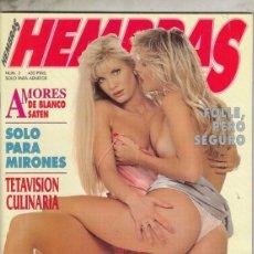 Revistas: REVISTA HEMBRAS Nº 3. (EROTICA). AMORES DE BLANCO SATEN. SOLO PARA MITONES. TETAVISION CULINARIA.. Lote 182262483