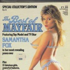 Revistas: REVISTA MAYFAIR VOLUMEN 20 Nº 5. (EROTICO). SAMANTHA FOX. . Lote 182640075