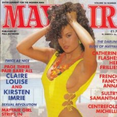 Revistas: REVISTA MAYFAIR VOLUMEN 26 Nº 11. (EROTICO). ARLING BUDS OF MAYFAIR.CLAIRE LOUSE AND KIRSTEN IMRIE.. Lote 182640666