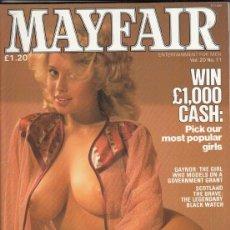 Revistas: REVISTA MAYFAIR VOLUMEN 20 Nº 11. (EROTICO). PICK OUR MOST POPULAR GIRLS. . Lote 182642691