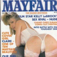 Revistas: REVISTA MAYFAIR VOLUMEN 26 Nº 3. (EROTICO). FILM STAR KELLY LEBROCK´S SEX RIVAL NUDE.. Lote 182642762