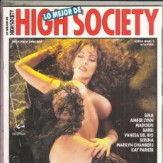 Revistas: REVISTA HIGH SOCIETY Nº 1 (EROTICA). ESPECIAL. ESTRELLAS DEL PORNO. SEKA. AMBER LYNN.MADISON. BARBI.. Lote 182904203