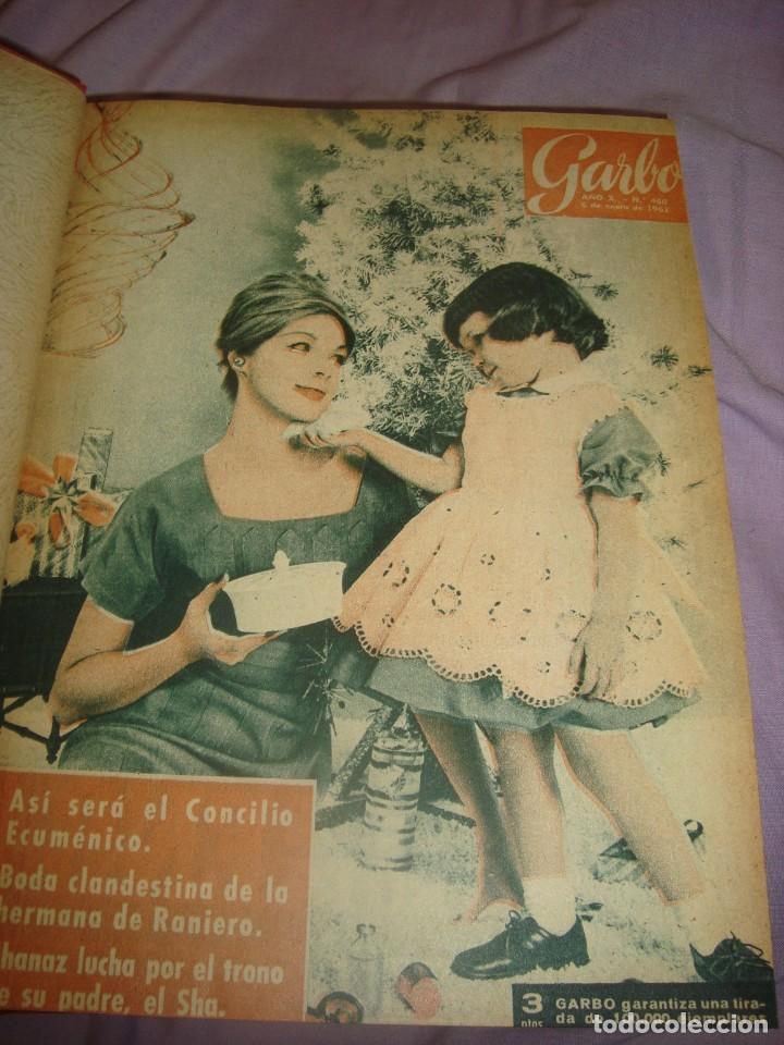 Revistas: tomo de revistas encuadernadas garbo , año 1962 enero-marzo - Foto 2 - 183578810