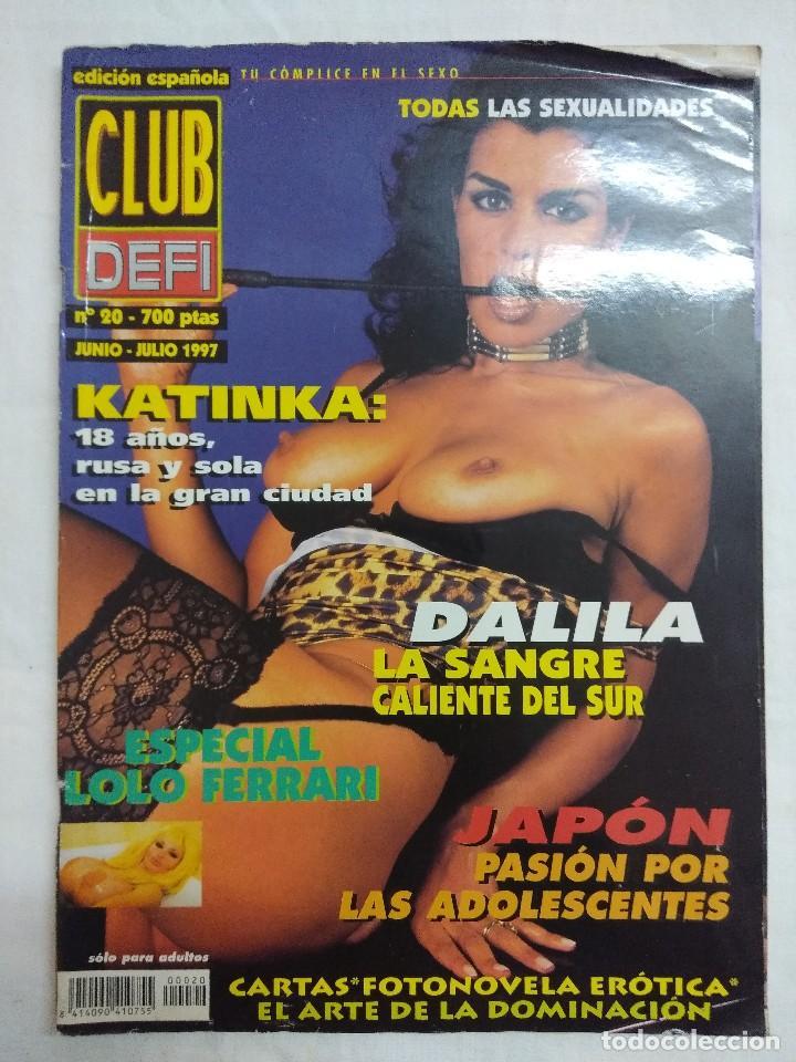 REVISTA EROTICA/CLUB DELFI Nº20/ESPECIAL LOLO FERRARI. (Coleccionismo para Adultos - Revistas)
