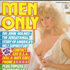 Revistas: REVISTA MENONLY VOLUMEN 48 Nº 7. (EROTICA). BIG JOHN HOLMES THE SENSATIONAL STORY OF AMERICA´S.. Lote 186238286