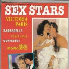 Revistas: REVISTA SEXSTARS N 11. (EROTICA). VICTORIA PARIS. BARBARELLA. SEXO ANAL. . Lote 186240302