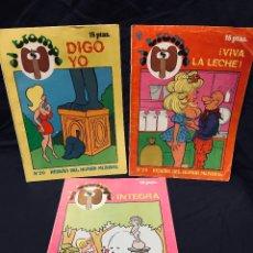 Revistas: EL TROMPA LOTE 3 HUMOR SEXY EDICIONES MIRASIERRA 1976 Nº 14, 20 Y 24. Lote 189281955