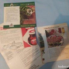 Revistas: MUY ANTIGUOS RECETARIOS DE COCINA DE LOMO, SALSA DE CARNE BOVRIL. Lote 191299958