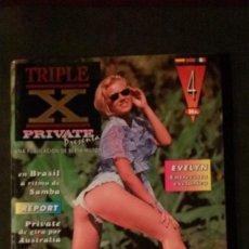 Revistas: PRIVATE TRIPLE X Nº 4-REVISTA PORNO-BERTH MILTON. Lote 191740355