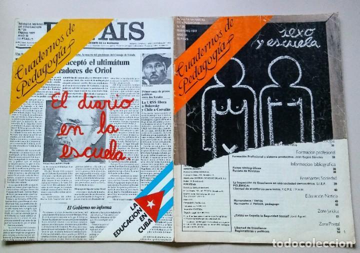 CUADERNOS DE PEDAGOGIA AÑO 1.977 ENERO Y FEBRERO (Coleccionismo para Adultos - Revistas)