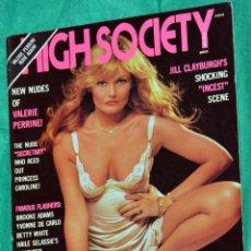 Revistas: VALERIE PERRINE MAGAZINE HIGH SOCIETY JILL CLAYBURGH USA. Lote 234149555
