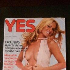 Revistas: YES Nº 20-1977-CAMILO SESTO-CRUYFF-EMMANUELLE. Lote 204376957