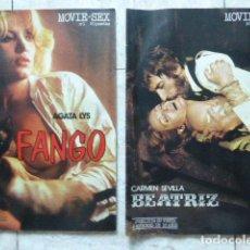 Revistas: LOTE DE 2 REVISTAS MOVIE-SEX. Nº 1 Y 2. LAS DE LA FOTO. AGATA LYS - CARMEN SEVILLA. Lote 206468382