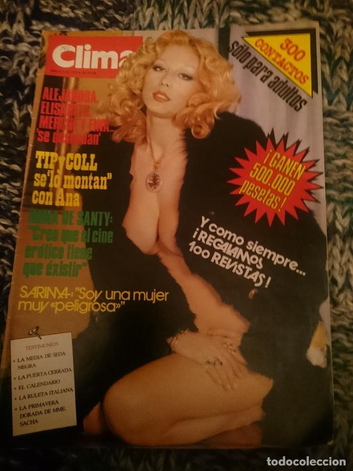 CLIMA N 173 -AÑO 1983 - INMA DE SANTIS ENTREVISTA - SARIMA VEDETTE - JOHN MCENROE - TIP Y COLL (Coleccionismo para Adultos - Revistas)