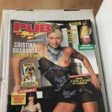 Revistas: PUB N.13/1998-CRISTINA QUARANTA,IRMA DRAGONE,MICHELLE HUNZIKER,KELLY MARAIS. Lote 207494546