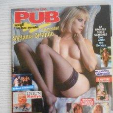 Revistas: PUB N.9/1998-MADONNA,CHARMAINE SINCLARE,ORIETTA E TIZIANA BERTUZZI. Lote 207495603