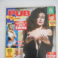 Revistas: PUB N.6/1998-MARZIA DI MAJO,PADMA LAKSHMI,MELANIE MOORE,MERI ARDUINI,EVA HENGER. Lote 207495973
