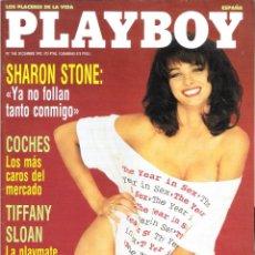 Revistas: PLAYBOY Nº 168 - DICIEMBRE 1992 - SHARON STONE: 'YA NO FOLLAN TANTO CONMIGO'. TIFFANY SLOAN. Lote 208107783