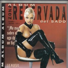 Magazines: REVISTA ZONA RESERVADA Nº 1. ALBUN DEL SADO. ¡ME MEO SOBRE EGO DE UN TÍO!. YEGUAS DISCIPLINADAS.. Lote 212560483