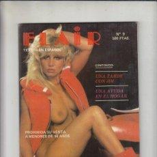Revistas: REVISTA FLAIR Nº 9. (PORNO). UNA TARDE CON JIM. UNA AYUDA EN EL HOGAR.. Lote 212808177