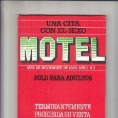 Revistas: REVISTA MOTEL Nº 2 AÑO 1980. (PORNO).. Lote 212808352