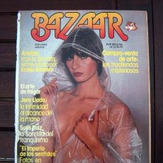 Revistas: REVISTA BAZAAR / JENNY LLADA, EL IMPERIO DE LOS SENTIDOS, MONTSEGUR, EL FASCISMO. Lote 214287858