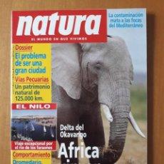 Revistas: NATURA N° 121. ABRIL 1993. DELTA DEL OKAVANGO. ÁFRICA VIRGEN.. Lote 217269343