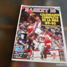 Revistas: REVISTA BASKET 16, Nº 96 (6 DE AGOSTO DE 1989), CALENDARIO COMPLETO DE LA NBA 89-90. Lote 222816418