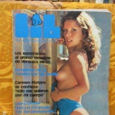 Revistas: REVISTA LIB-NUM.81-AÑO 1978: VERONICA MIRIEL-CARMEN PLATERO-LAURA GEMSER-CASETA GAY DE SEVILLA. Lote 229754595