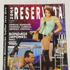 Magazines: REVISTA PORNO LA ZONA RESERVADA DEL SADO EXTRA Nº 19 - SOLAMENTE PARA ADULTOS. Lote 254300230